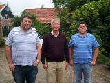 John Gladwin Frans Zwols and John Cowlin at Frans loft